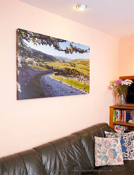 Photo of a large size box framed print