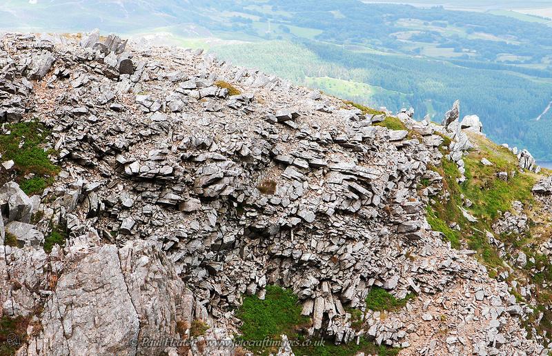 Rock formation on Cyfrwy