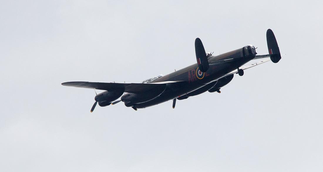 Lancaster Bomber over Wetherby
