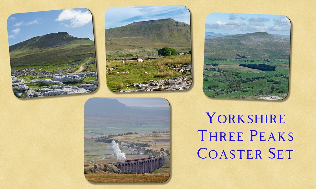 Yorkshire Three Peaks Coaster Set