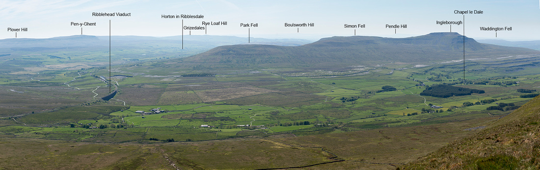 View from Whernside summit