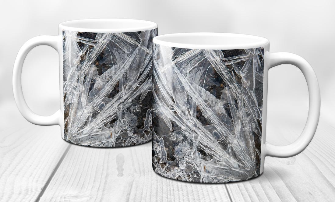 Ice crystals ceramic mug