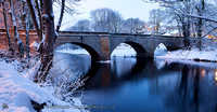 Boston Spa bridge snow