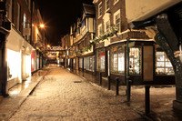 Stonegate, York at Christmas Time