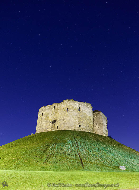 Cliffords Tower York at Night