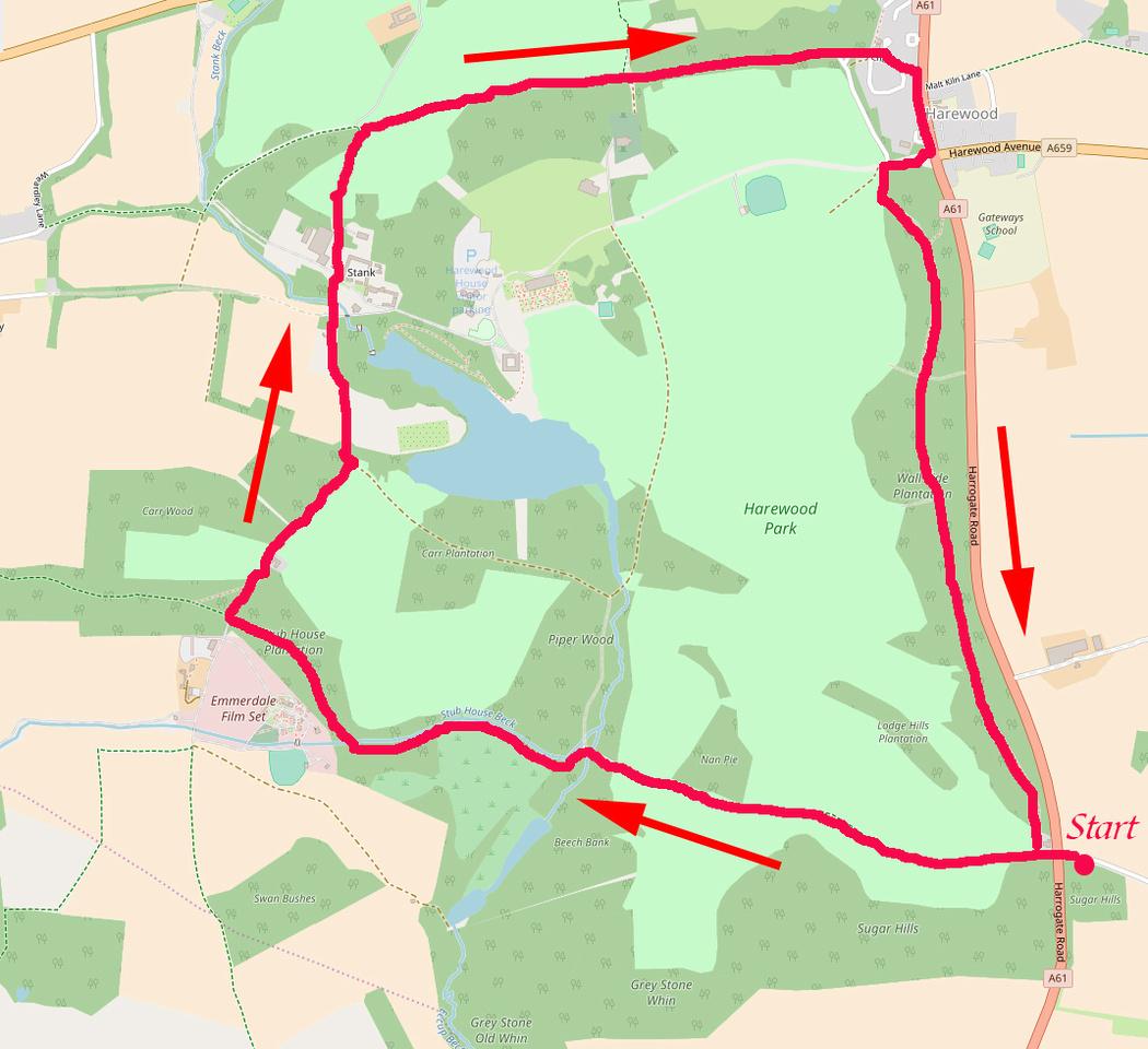 Harewood Walk Map