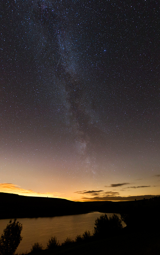 Milky Way over Leighton Reservoir